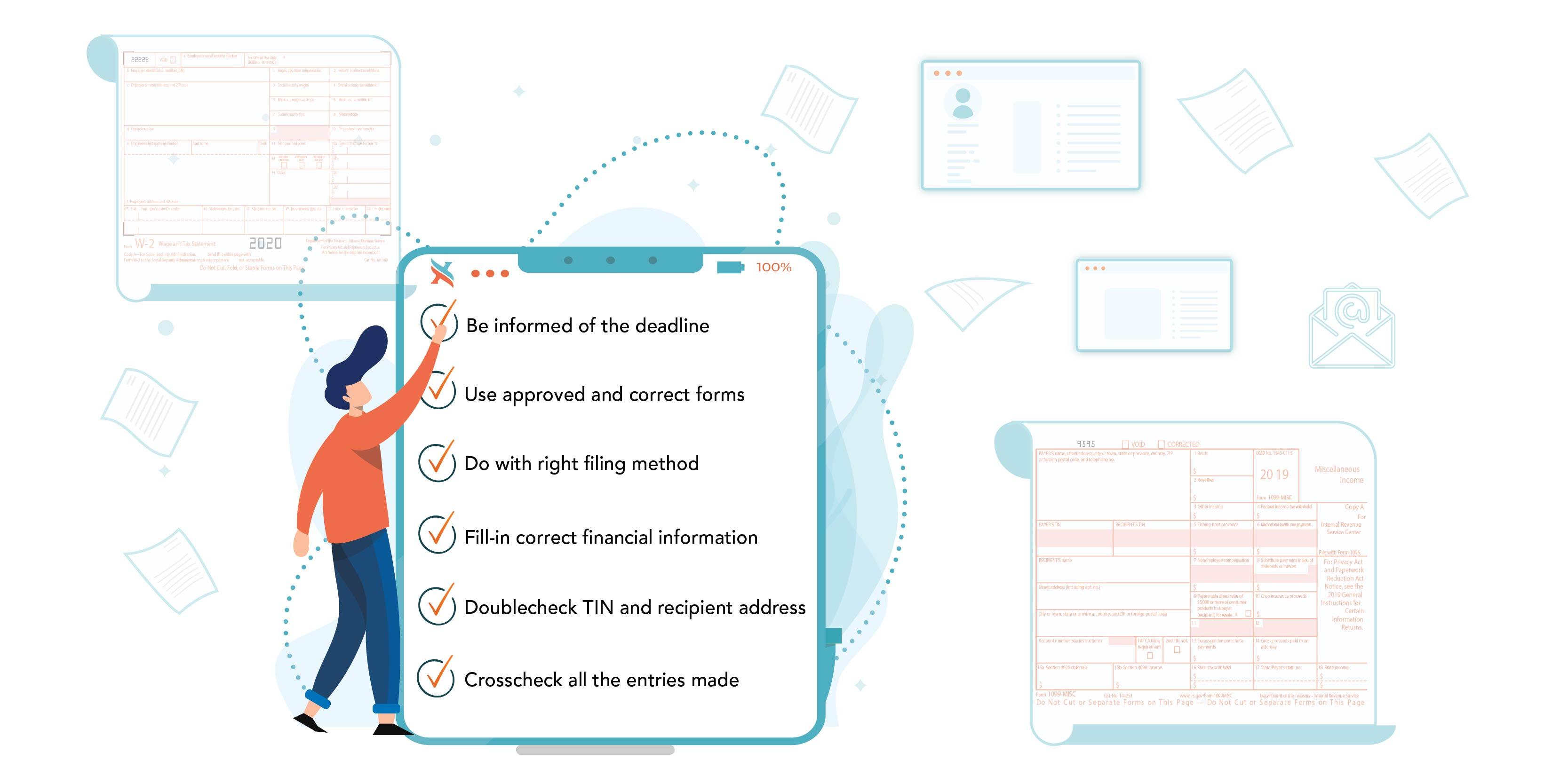 1099/W2 Filing Checklist