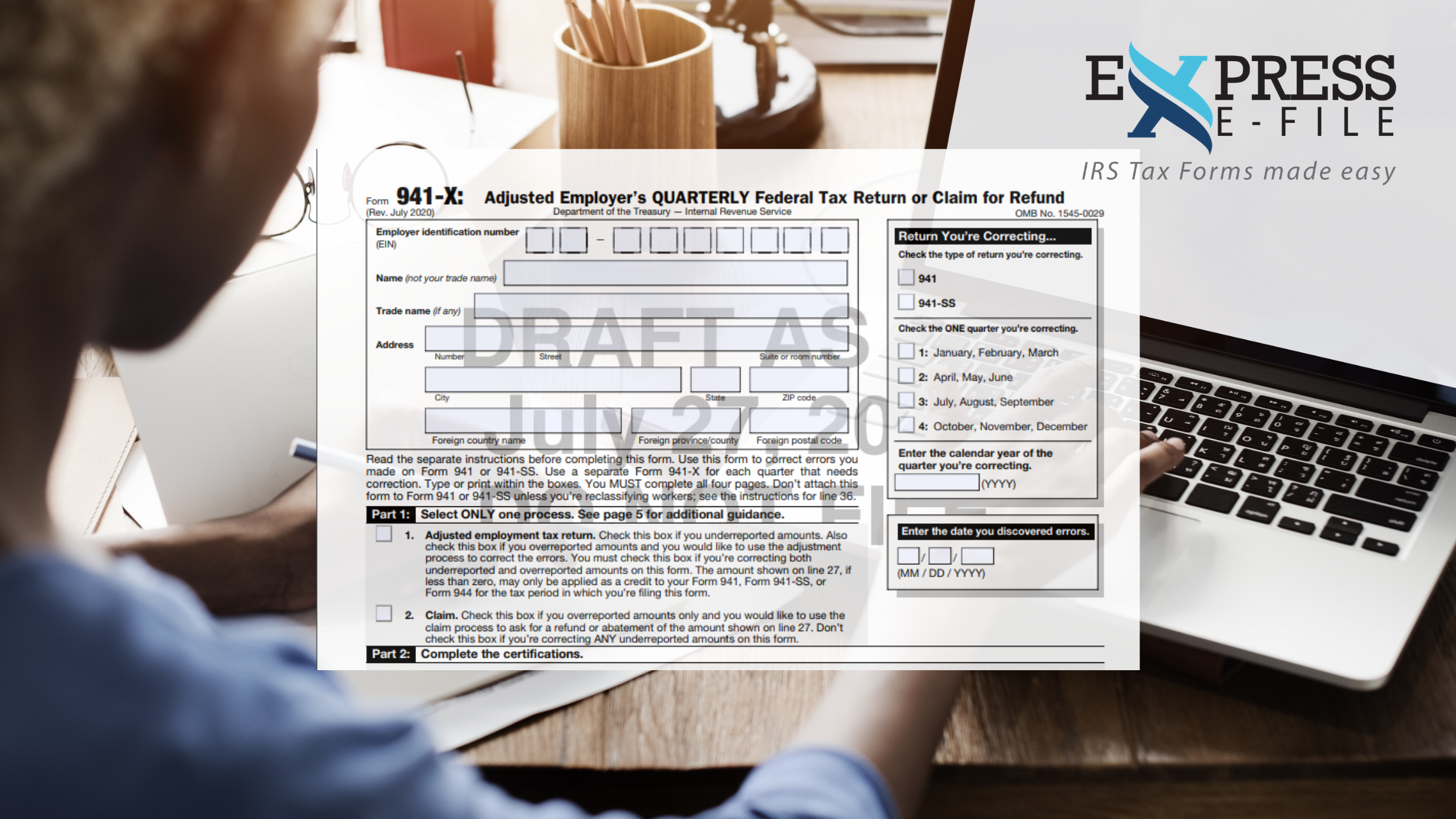 Updated IRS Form 941-X 2020
