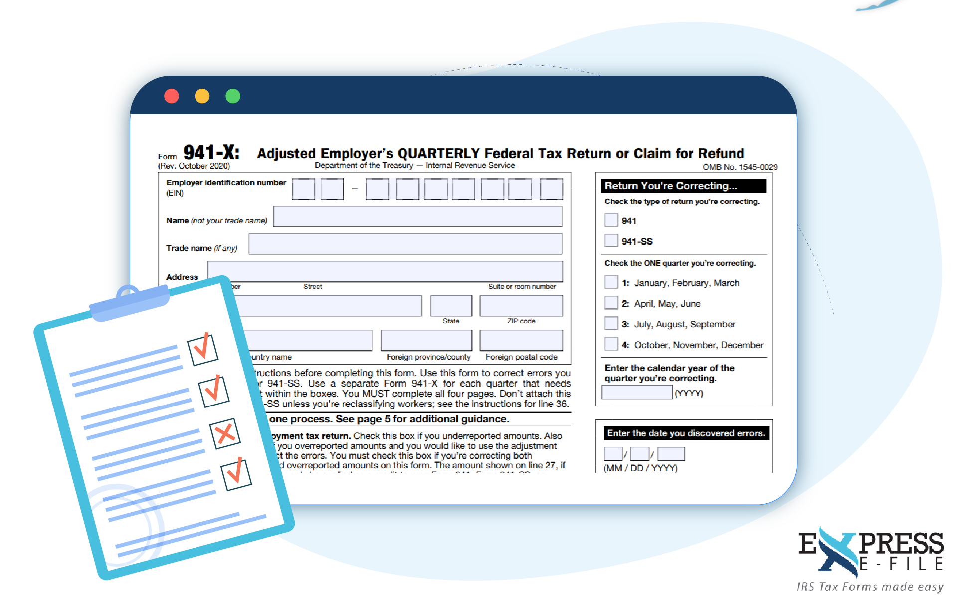 Revised Form 941-X