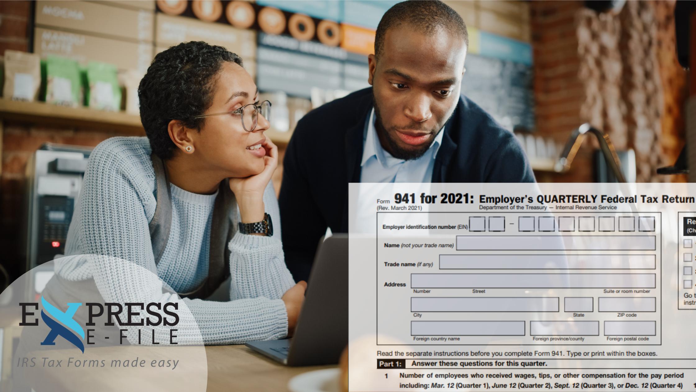 Form 941 2021 Quarter 1