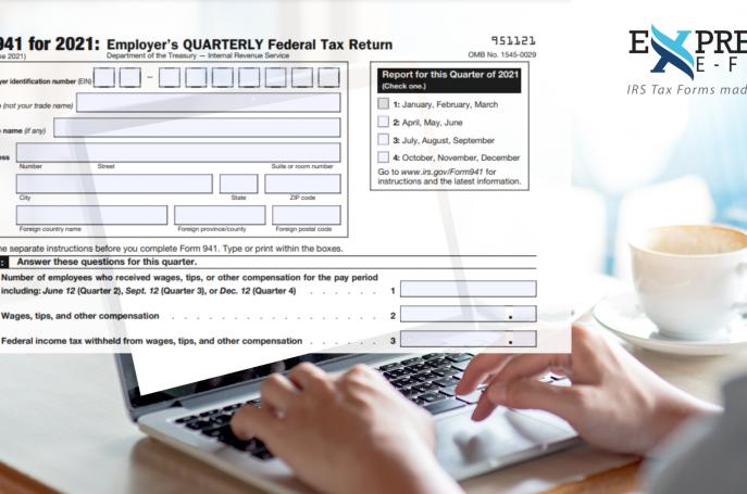 Form 941 for 2nd Quarter 2021